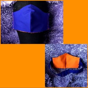 Blue Orange Adjustable Triple Layer Face Mask Hook